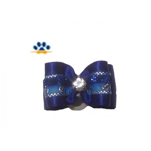 """Бантик""""Flower""""синий"""