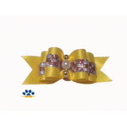 "Одежда для собак | Бантик""Бусинка""жёлтый"