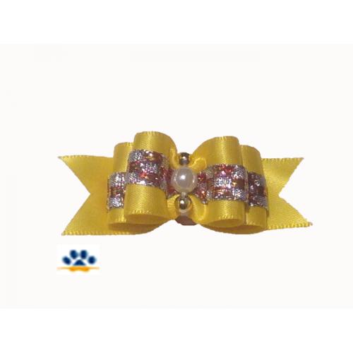 """Бантик""""Бусинка""""жёлтый"""