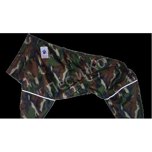 Дождевик хаки зеленый  (Стаффордширский бультерьер, Боксёр, Эрдельтерьер, Бобтейл) девочка
