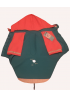 Куртка-попона голубая/красная