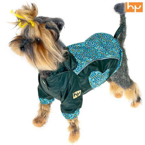 Куртка для собак HAPPY PUPPY Самоцветы зеленая