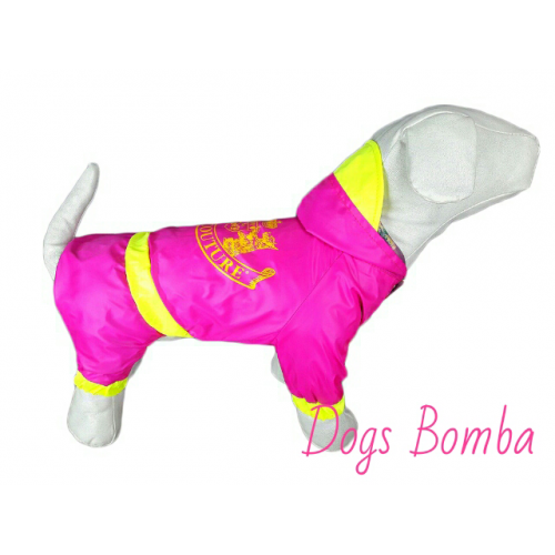 "Дождевик  ""Juicy Couture""  розовый Dogs Bomba (Вест хайленд)"