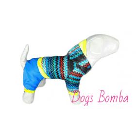 """Дождевик  """"Зигзаг""""синий  Dogs Bomba."""