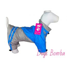 """Дождевик  """"Спорт""""синий  Dogs Bomba (подклад флис)"""