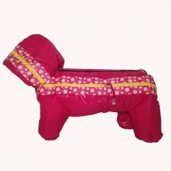 Комбинезон зимний «Полянка» розовый для девочки