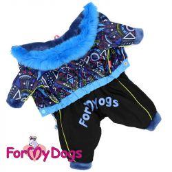 Зимний комбинезон  ForMyDogs синий для мальчиков